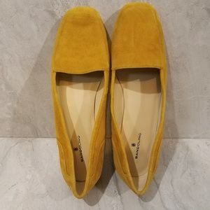 Bandolino Mustard Yellow Leather Flats Loafers
